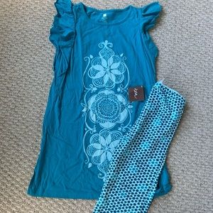 Tea Collection Outfit Dress Leggings 10 New